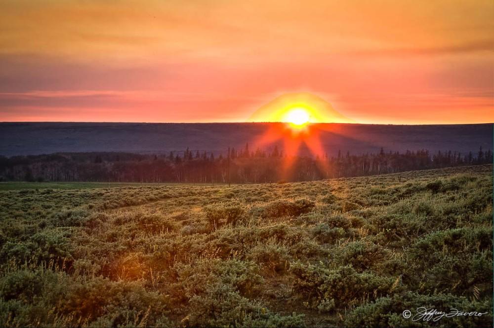 Sunset Over Sagebrush