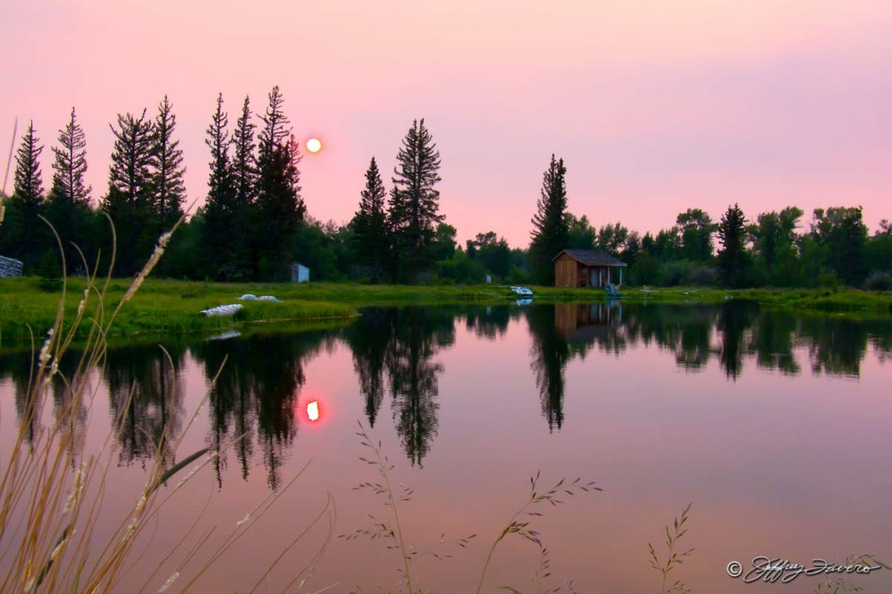 Pond Summer Sunset