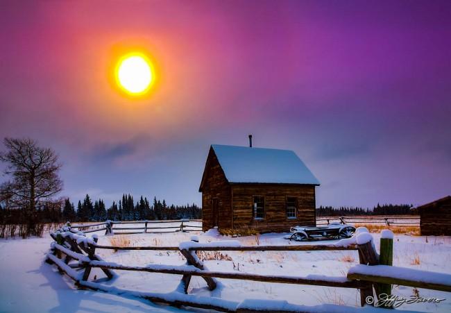 Winter Sun Pioneer Schoolhouse