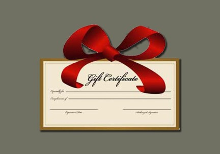 Gift Certificates/Store Credit